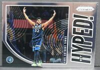 2019-20 Panini Prizm Karl-Anthony Towns Hyped Insert Card #1 Minn. Timberwolves
