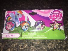My Little Pony Kid's Jewelry Set 4 Rings Christmas Stocking Stuffer New