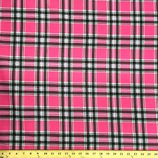 Saturnia Plaid Pink Print Fabric Cotton Polyester Broadcloth By The Yard 60""