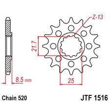 JT Sprockets Racing-Ritzel 16Z Teilung 520 feinverzahnt Innendurchmesser 21.7/25