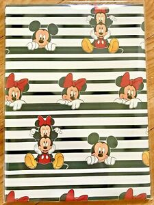 Disney Minnie Mickey Mouse Wrapping Paper (2 Sheets Only) 50 x 70cm each sheet