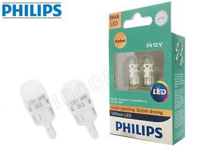194 T10 PHILIPS ULTINON Turn Signal LED Bulbs Amber 194AULAX2 (Pack of 2)