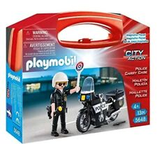 PLAYMOBIL 5648 Police City Action with Carry Case New