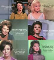 Women of Star Trek 50th Anniversay Quotable Women of Star Trek 18 card chase set