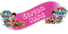Paw Patrol Room Decor -  Wall Decal Removable Sticker CUSTOM NAME