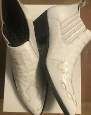 Kurt Geiger Womens Ankle Boots -Dillan White Croc Print Size Uk 4 Brand New