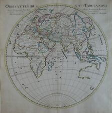 Original 1730 Map ORBIS VETERIBUS NOTI TABULA NOVA Asia China Korea India Europe