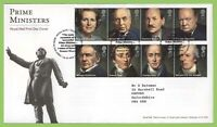 G.B. 2014 Prime Ministers set on Royal Mail First Day Cover, Tallents House