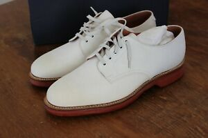 Ralph Lauren Polo White Bucks Bench-Made by Crockett & Jones 9 D Mackay Shoes