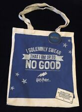 PRIMARK Harry Potter Solemnly Swear Up to No Good Tote Bag Cotton Cloth New Blue