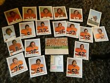 1970s BC Lions team player photos -20 Royal Bank + NW98 vintage sticker