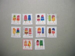 USA Used, 2018 Issue, Frozen Treats (Set of 10)