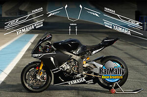 WINTER TEST GRAPHICS - TO FIT YAMAHA YZF R1 & R6 OR SIMILAR - RACE TRACK DECALS