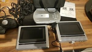 Venturer Twin screen in car dvd player with game pad