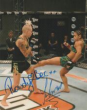 TECIA TORRES ROWDY BEC RAWLINGS SIGNED AUTO'D 8X10 PHOTO MMA UFC TUF 20 B