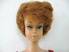 .....VINTAGE MATTELL BUBBLE CUT RED HEAD BARBIE with RED SWIM SUIT....JAPAN