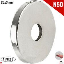 1pc N52 Grade 20x3mm 34 Inch Super Strong Powerful Neodymium Magnet 5mm Hole
