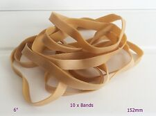 "10 x Large Strong Thick 6"" x 1/2"" Rubber Elastic Bands No.89 152.4mm x 12.7mm"