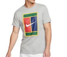 Nike T Shirt Gray Multicolor Mens Small or Medium NikeCourt Tennis Graphic Tee
