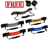 ISLERO Weightlifting Arm Blaster Biceps Isolator Gym Support Strap Bodybuilder P