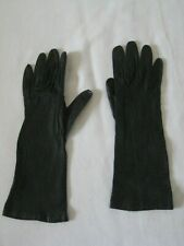 Vintage Milore soft black kid leather gloves, size 7