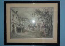 Vintage Framed Architect's Drawing of a Mansion Block Signed 1903(?)