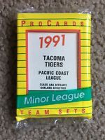 1991 TACOMA TIGERS MINOR LEAGUE TEAM SET PROCARDS FACTORY SEALED SCOTT BROSIUS