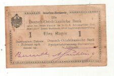 ++DOA  GERMAN EAST AFRICA  1 Rupie 1.2.1916  Ro 928 t   Serie Z2   ++