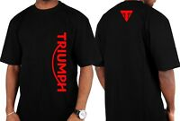 New TRIUMPH Vertical Motorcycle TShirt