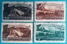Russia (USSR) 1948 MNH (CTO) set of 4 stamps 5 year plan Mining     R#003169