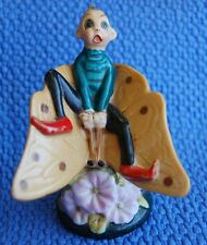 ANTIQUE GOOGLY EYE on FIGURE on a Butterfly BISQUE Vintage