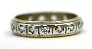 Vintage 1960/70s, 9ct Gold/Silver & Spinel Eternity Ring, SIZE K½. VGC