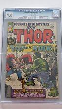 Journey Into Mystery #112, Thor vs Hulk, Marvel, CGC 4.0