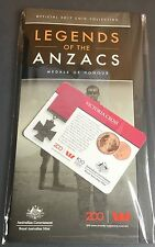 Legends of the Anzacs 2017 Coin Collection Folder & Victoria Cross 25c