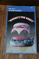 Vintage Wendys 200 Piece Jigsaw Puzzle Complete Where's the Beef RARE APC 1984