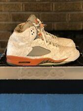"Air Jordan Retro 5 RA ""Laser"" Olive Orange Size 14 2007"
