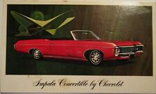 1967 Chevy Impala Convertible dealers postcard