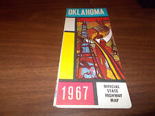 1967 Oklahoma State-issued Vintage Road Map