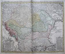 Original vor 1800 Ansichten & Landkarten von Europa aus ungarem