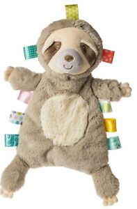 """Mary Meyer Taggies Molasses Sloth Lovey 11"""" Blanket Soft Baby Toy"""