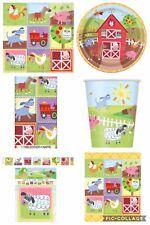 Farm Animal Party Farmyard Friends Birthday Set For 8 cups plates napkins