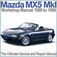 MAZDA MX5 MIATA EUNOS MKI 1989-1998 officina, Servizio E Riparazione Manuale su CD
