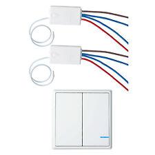 1 PK 2-way Wireless Switch 2 PK Remote Receiver Smart Wireless Wall Light Switch