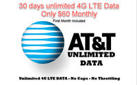 AT&T Prepaid Plan With Unlimited 4G LTE Data Included (Bring Your Own Phone)