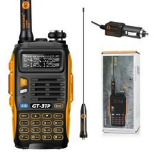 Two-Way Radio Transceiver Handheld Police Scanner Tri-Power Dual Band Car Charge