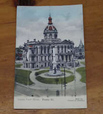 Peoria Illinois Trap Door Novelty Fold Out Antique Postcard J71291