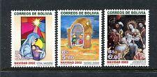 Bolivia 1201-1203, MNH.2002, Christmas 3v. x27697