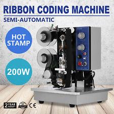 Semi-Automatic Electric Coder Hot Stamp Ribbon Coding Printer Machine Adjustable