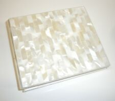 Genuine White Mother of Pearl Wedding Photo Album Postbound 4X6 Photo Expandable