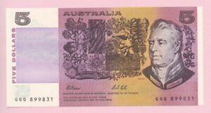 """Australien, """"5 Dollar"""" Geldschein PM.44g 1991 , Erhaltung I"""